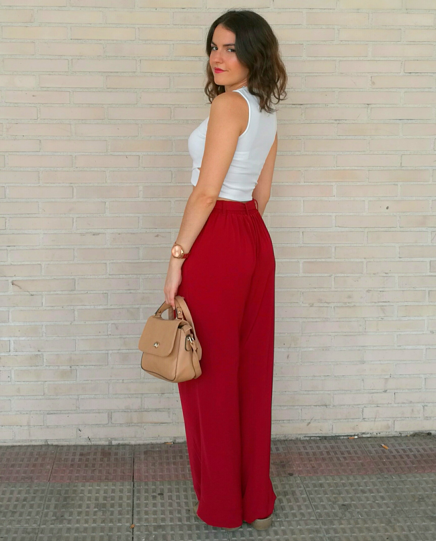 c65fd3a7726 The main part of this look are this beautiful dark red palazzo pants. You  might remember them from my last fashion haul. Palazzo pants are really  trendy ...